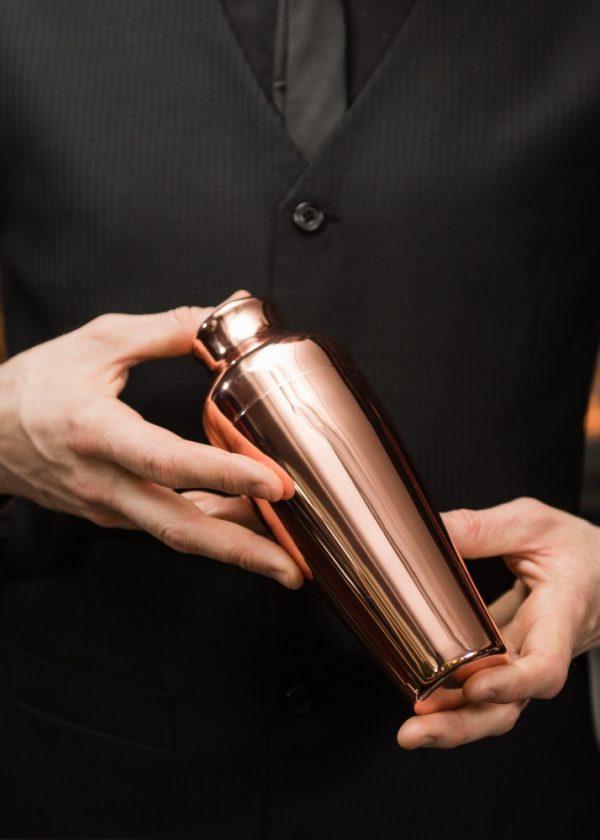 Mezclar 550ml Art Deco Shaker Copper Plated