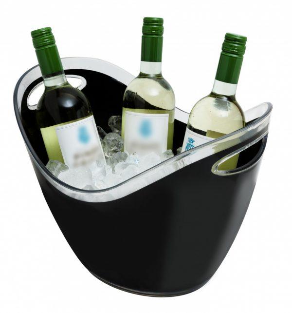 8 Litre Plastic Wine/Champagne Cooler Black