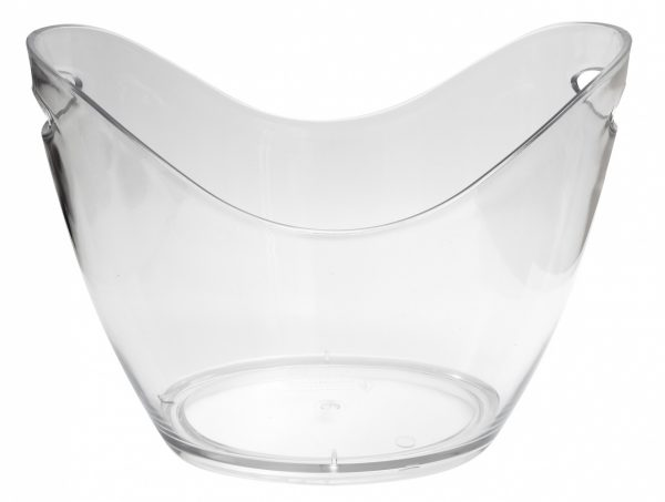 8 Litre Plastic Wine/Champagne Cooler Clear