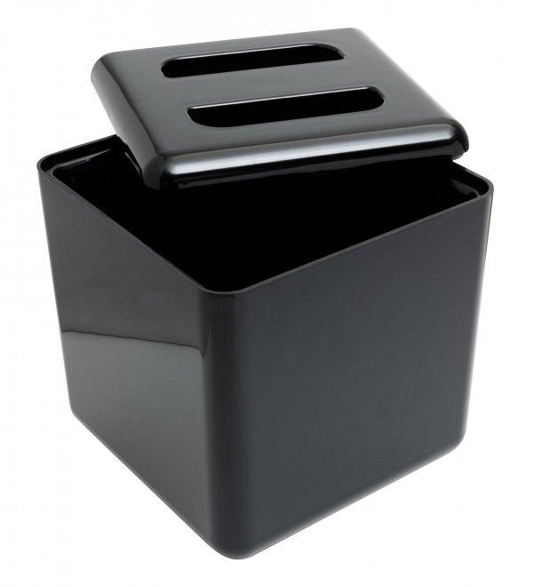 Square Ice Bucket Black
