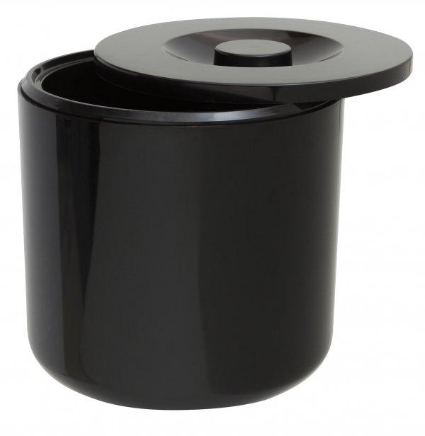 Round Ice Bucket Black