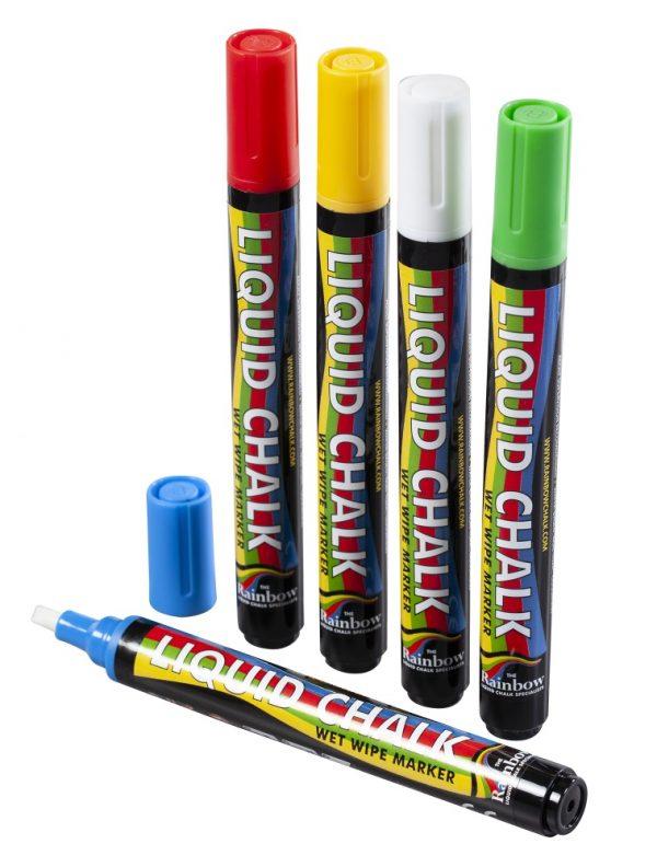 6mm Chisel Tip Chalk Pen Mixed Colours <Br>PK 5