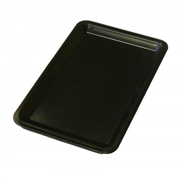 Black Plastic Tip Tray Plain