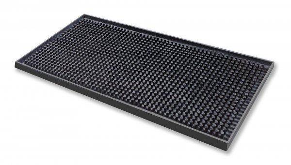 Deluxe Black Rubber Mini Bar Mat 6″ x 12″