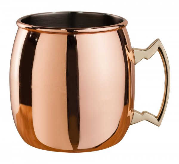 Mezclar 500ml Curved Moscow Mule Mug Copper Plated