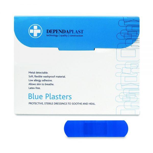 Blue Detectable Plasters 75mm x 25mm Pk 100