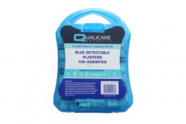 Blue Detectable Plasters Assorted Sizes Pk 100