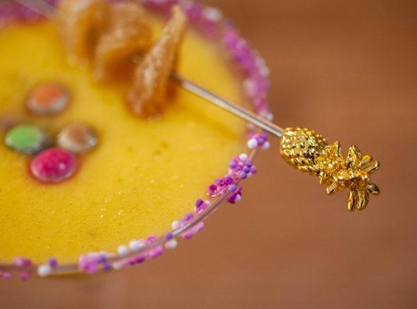 Pineapple Garnish Pick PK10 - Gold Plated