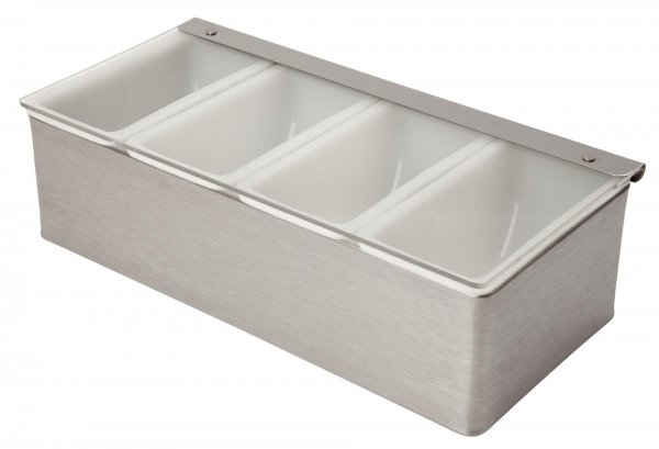 Stainless Steel Condiment Holder 4 Compartment