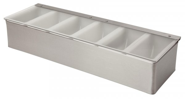 Stainless Steel Condiment Holder 6 Compartment