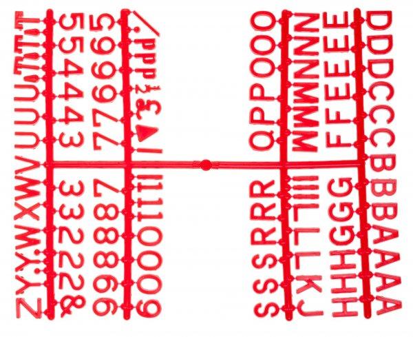 "½"" Letter Set – PK6 Red"