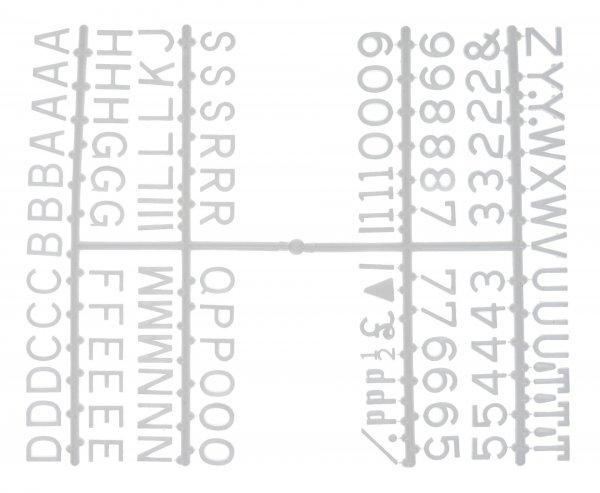 """½"""" Letter Set – PK6 White"""
