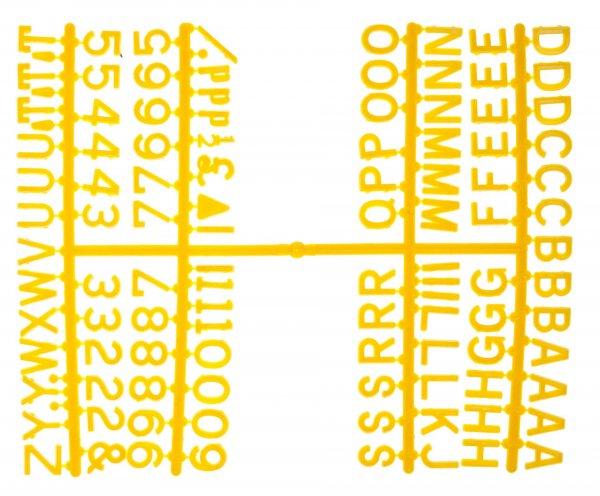 "½"" Letter Set – PK6 Yellow"