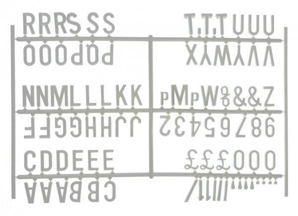"""¾"""" Letter Set - PK6 White"""
