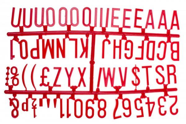 "1 ¼"" Letter Set – PK6 Red"