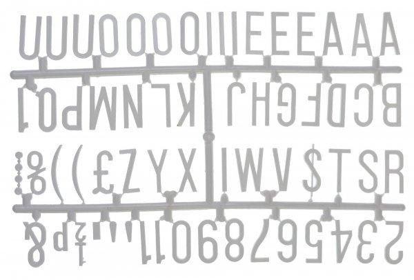 """1 ¼"""" Letter Set - PK6 White"""