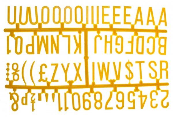 "1 ¼"" Letter Set - PK6 Yellow"
