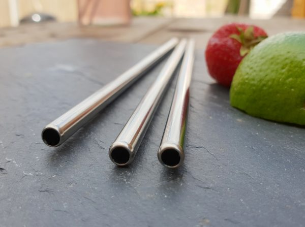 8.5″ Metal Straws  PK25