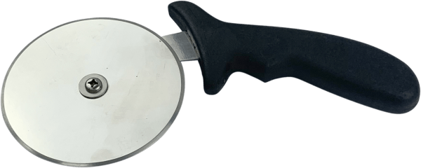 Pizza Cutter 4″ Black Plastic Handle