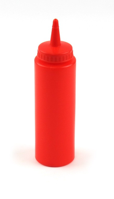 8oz Squeeze Bottle Red
