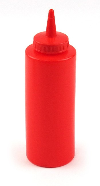 12oz Squeeze Bottle Red