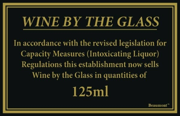 125ml Law Sign