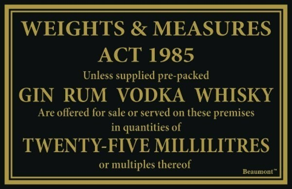25ml Law Sign