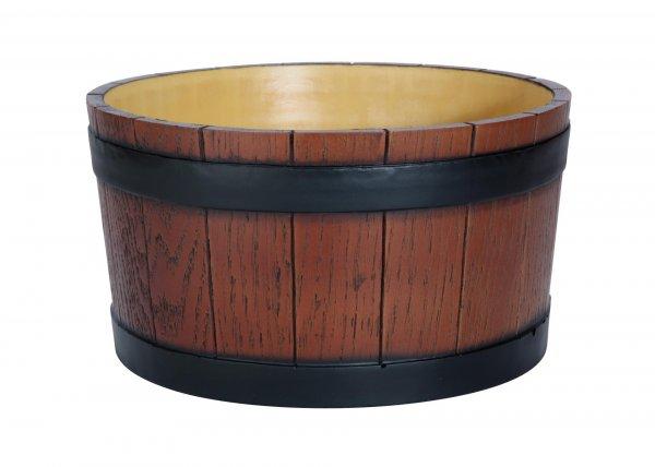 Barrel End Ice Tub Wood Grain Effect 11 litre/19 pint