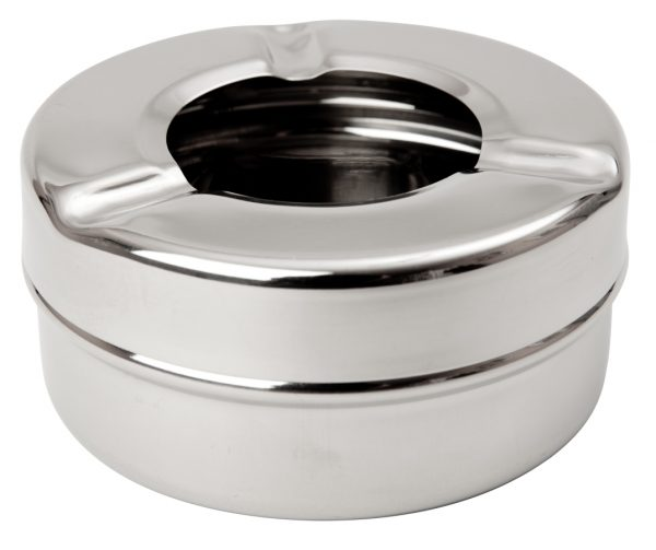 """Stainless Steel 3½"""" Windproof Ashtray"""